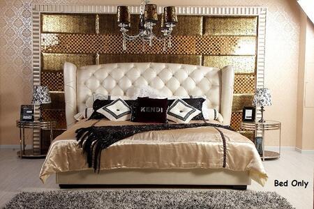 VIG Furniture VGKNN5028-BEIGE Modrest Majestic - Transitional Beige Eco-Leather Bed