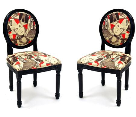 Armen Living LC3150SIRE Accent Chair Fabric Accent Chair