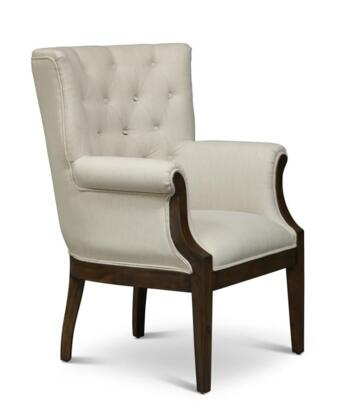 """Jofran Paxton Collection PAXTON-CH-X 30"""" Accent Chair with Fabric Upholstery, Button Tufting, Flared Arms and Traditional Style in"""