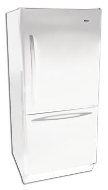 Haier HBQ18JADW  Bottom Mount Refrigerator with 17.6 cu. ft Capacity in White
