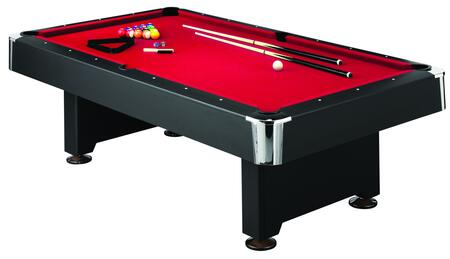 Mizerak P5223W Pool Bed Billiard Table with an Accessory Kit - 2 Cues, a Set of Balls, a Triangle, a Brush, and 2 Chalk Pieces