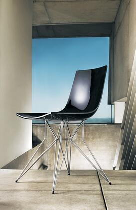 Modloft CDJ167ASL6 Audley Series Modern Not Upholstered Metal Frame Dining Room Chair