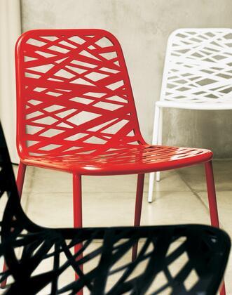 Modloft CDS169PV Clarges Series Modern Not Upholstered Metal Frame Dining Room Chair