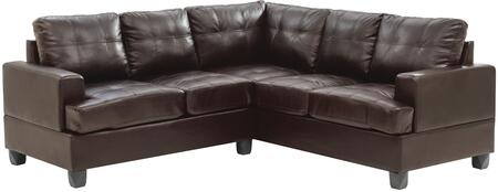 Glory Furniture G585BSC G580 Series Stationary Bycast Leather Sofa
