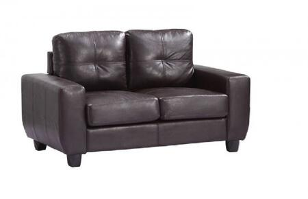 Glory Furniture G205AL Bycast Leather Stationary with Wood Frame Loveseat