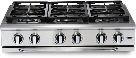 "Capital GRT366N 36"" Precision Series Gas Sealed Burner Style Cooktop, in Stainless Steel"