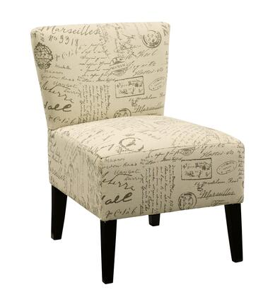 Signature Design by Ashley Ravity 4630X60 Accent Chair with Removable Tapered Legs, Patterned Fabric Upholstery and Tight Seat Construction in
