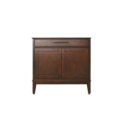 "Avanity Madison MADISON-VXX-TO X"" Vanity Only with X Soft-Close Doors, X Soft-Close Drawers, Old Bronze Finished Hardware, and Adjustable Height Levelers in a Tobacco Finish"