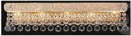 """J & P Crystal Lighting Bangle Collection SP180044W 44"""" Wide Wall Light in X Finish"""