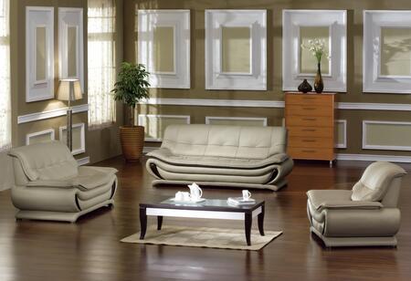 VIG Furniture VGDM2801BL Modern Bonded Leather Living Room Set