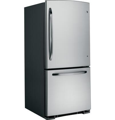 GE GBSL0HCXRLS  Bottom Freezer Refrigerator with 20.3 cu. ft. Total Capacity 6.2 cu. ft. Freezer Capacity 3 Glass Shelves