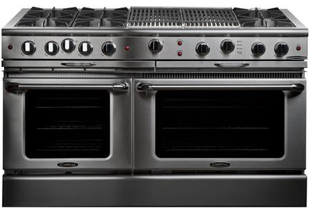 """Capital CGSR604BB2L 60"""" Culinarian Series Gas Freestanding Range with Open Burner Cooktop, 4.6 cu. ft. Primary Oven Capacity, in Stainless Steel"""