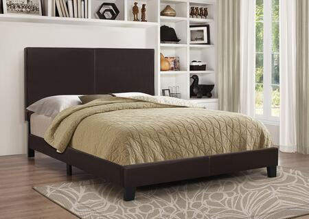 Coaster Mauve Platform Bed with Slat Roll Included, Solid Wood Legs and Leatherette Upholstery in White Color