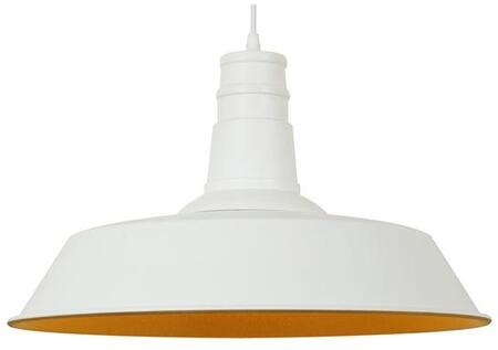 """EdgeMod Stafford Collection 18"""" Pendant Lamp with Round Shade, Round Ceiling Plate, LED Light Compatible and Aluminum Construction in"""