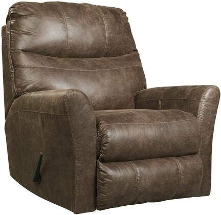Signature Design by Ashley 6920325 Tullos Series Contemporary Faux Leather Metal Frame Rocking Recliners