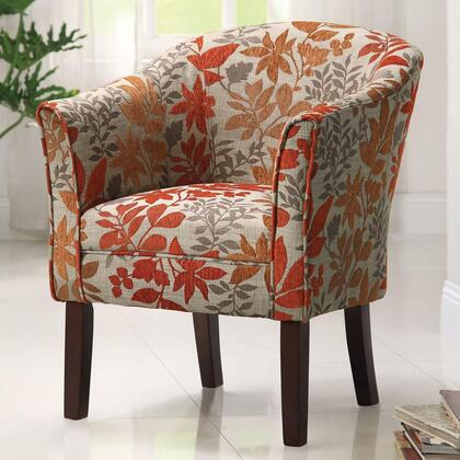 Coaster 460407 Accent Seating Series Armchair Fabric Wood Frame Accent Chair