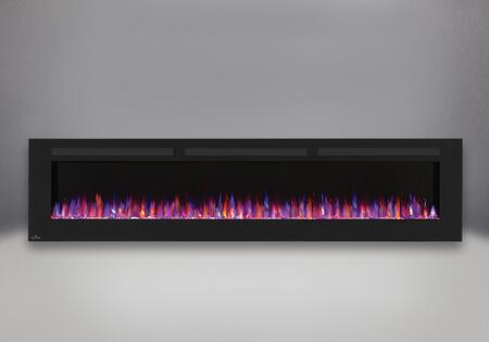 Allure 100 in. Fireplace   Orange and Blue Flame