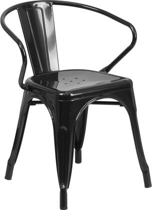 Flash Furniture CH31270BKGG  Metal Frame  Patio Arm Chair