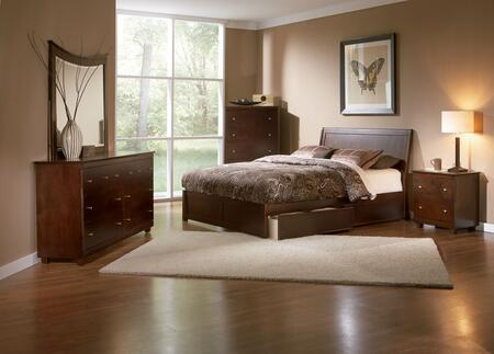 Atlantic Furniture PORFPAWFL Portland Series  Full Size Bed