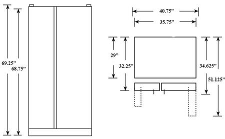 Hotpoint Hss25athbb 36 Inch Side By Side Refrigerator With