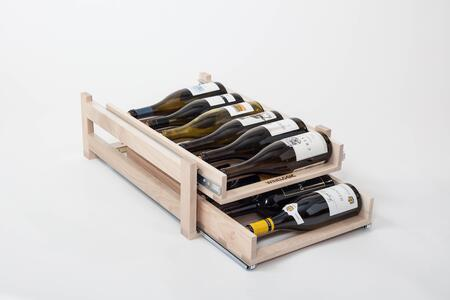 Wine Logic WLMAPLEx Maple In-cabinet Wine Rack with High Quality Solid Wood Construction Horizontal Design, Full Extension, Ball-bearing Slides and Darkened Storage for Wine Protection from Light