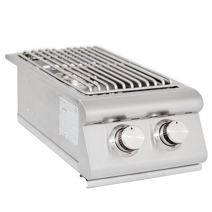 Blaze BLZ-SB2R Double Side Burner with 24,000 BTU Total, Stainless Steel Construction, Removable Cover and Push-and-Turn Knob Ignition
