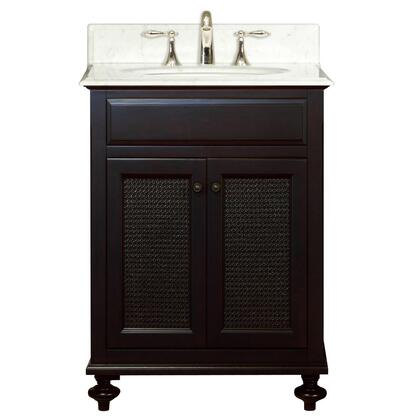 Water Creation LONDON Single Sink Bathroom Vanity with Undermount Ceramic Lavatory Sink, Marble Countertop, Soft Closing Drawers and Solid Hardwood Construction in Dark Espresso