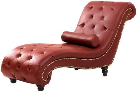 Glory Furniture G759CHS Victoria Series Traditional Faux Leather Wood Frame Chaise Lounge