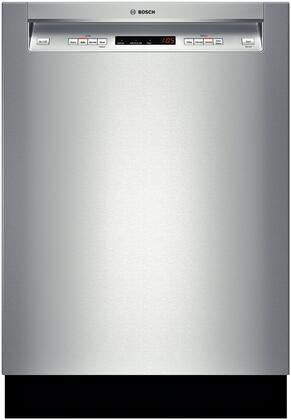 """Bosch SHE53T55UC 24"""" 300 Series Built In Full Console Dishwasher with 15 Place Settings Place Settingin Stainless Steel"""