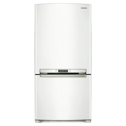 Samsung Appliance RB195ACWP  Bottom Freezer Refrigerator with 18.0 cu. ft. Total Capacity 5.69 cu. ft. Freezer Capacity 3 Glass Shelves