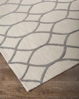 "Signature Design by Ashley Lauder R40043 "" x "" Size Rug with Geometric Design, Hand-Tufted, 15mm Pile Height and Wool Backed with Cotton Material in Cream Color"