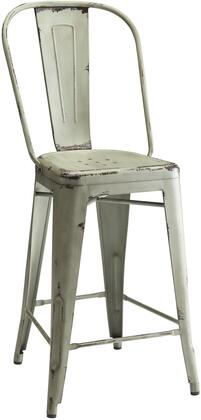 "Coaster Lahner 21.5"" Counter Height Chair with Tapered Legs, Distressed Look and Metal Construction in"