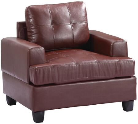 Glory Furniture G580AC Bycast Leather Armchair in Brown