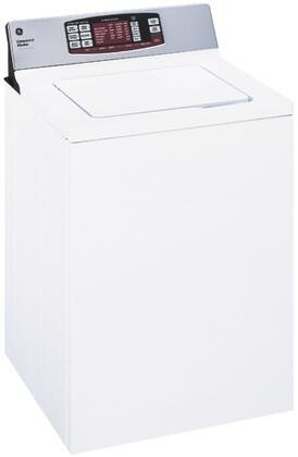 "GE WNRD2050GWC 27"" Commercial Series Top Load Washer with 3.6 cu. ft. Capacity 5 Wash Cycles 630 RPM 