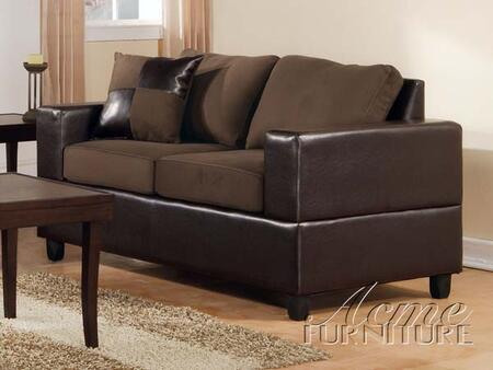 Acme Furniture 00105A Fabric Loveseat with Hardwood Frame Loveseat