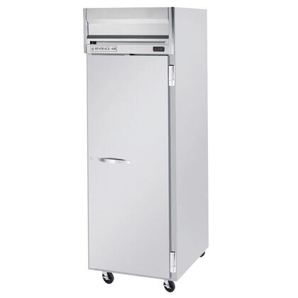 """Beverage-Air HF1-1 26"""" Horizon Series One Section [Solid Door] Reach-In Freezer, 24 cu.ft. capacity, Stainless Steel Front, Gray Painted Sides, Aluminum Interior"""