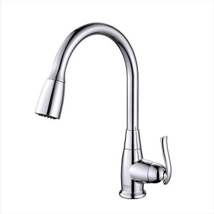 Kraus KPF2230 Premier Series Pull Out Kitchen Faucet with Solid Brass Construction, Easy-Clean Rubber Nozzles, and Kerox Ceramic Cartridge