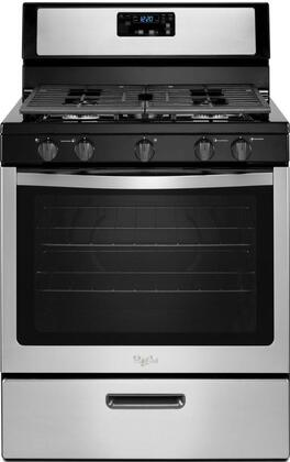 "Whirlpool WFG505M0BS 30"" Gas Freestanding Range with Sealed Burner Cooktop, 5.1 cu. ft. Primary Oven Capacity, Broiler in Stainless Steel"