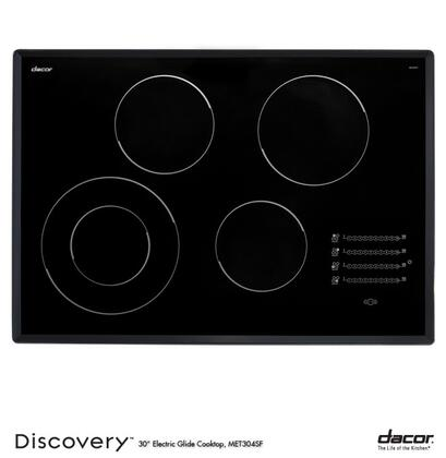 """Dacor MET304SF 30"""" Discovery Series Electric Cooktop, in Black Top with Satin Trim"""