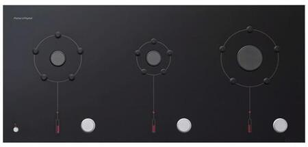 "Fisher Paykel CG363MLNGB1 36"" Izona Platinum Series Black Gas Sealed Burner Style Cooktop"