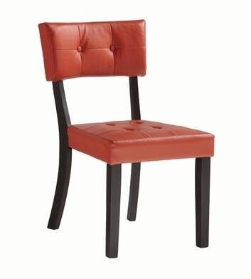 Powell 398434 Contemporary Faux Leather Wood Frame Dining Room Chair