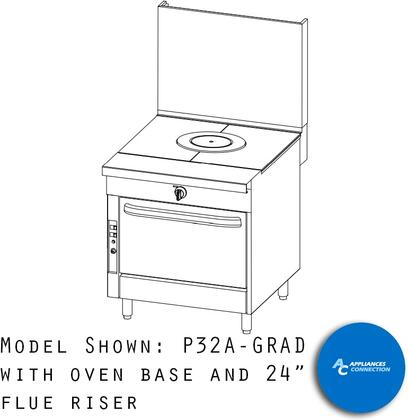 "Southbend P32GRAD Platinum Series 32"" Graduated Hot Top with a Standard Burner and Battery Spark Ignition, Up to 62000 BTUs (NG)/42000 BTUs (LP)"