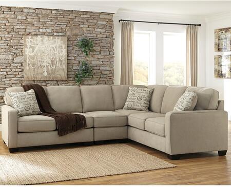 Flash Furniture FSD1669SEC3RAFSQTZGG Alenya Series Stationary Microfiber Sofa