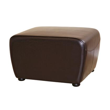 Wholesale Interiors Y051 Nathaniel Series Contemporary Leather Ottoman
