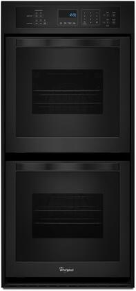 "Whirlpool WOD51ES4E 24"" Electric Double Wall Oven with 6.2 cu. ft. Total Capacity, AccuBake Temperature Management System, Touch Control Digital Display, Keep Warm Setting and Self-Cleaning System in"