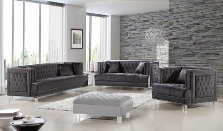 Meridian 6093PCSTLARMKIT2 Lucas Living Room Sets