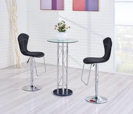 Global Furniture USA M208BTM260BSBL3PCSET Bar Tables