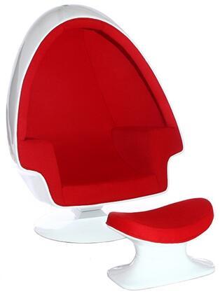 Fine Mod Imports FMI1113 Alpha Egg Chair and Ottoman
