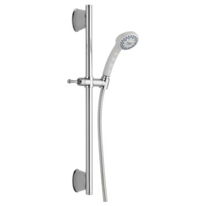 Universal Showering Components  51539-WH Delta: Slide Bar Hand Shower in White