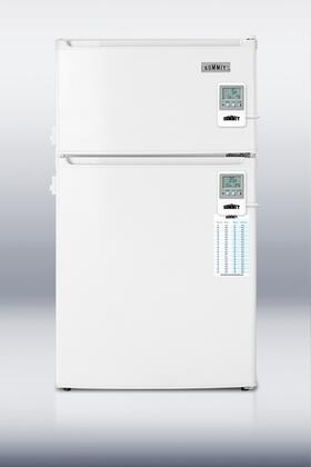 Summit CP35LLMED Med Series Freestanding Counter Depth Compact Refrigerator with 2.9 cu.ft. Capacity, 1 Wire ShelfField Reversible Doors